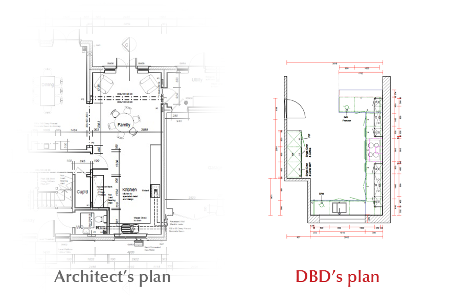 Architect's plan & DBD's plan